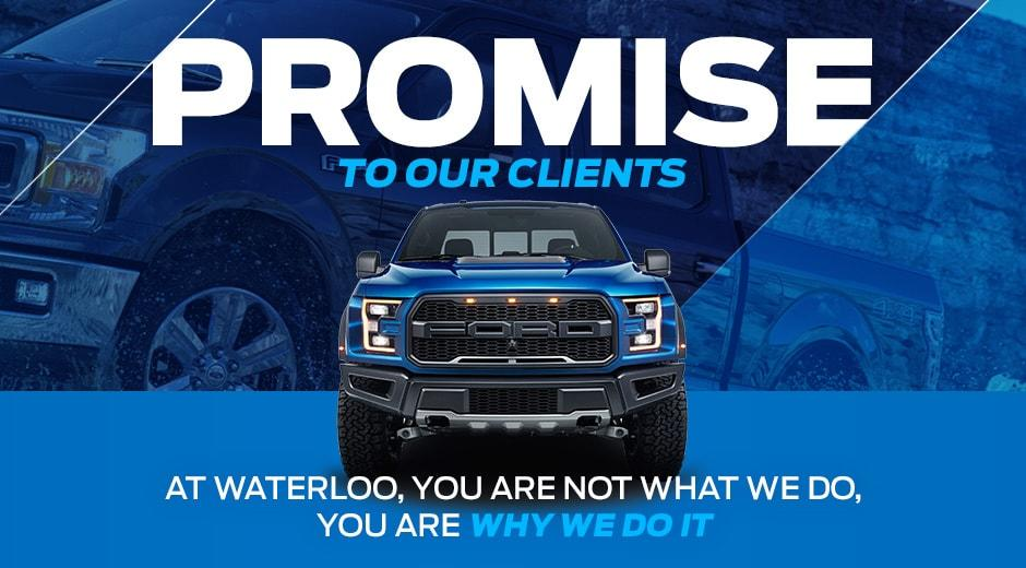 Waterloo Ford Promise Header